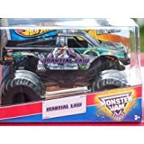 2013 MARTIAL LAW - 1:24 Scale (Large Version) Hot Wheels Monster Jam Truck with Monster Tires, Working Suspension and 4 Wheels Steering