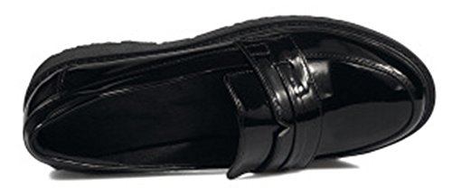 SHOWHOW Womens Casual Low Cut Slip On Flats Pumps Black wNvHllL