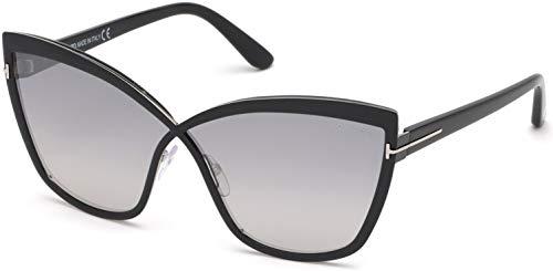 Sunglasses Tom Ford FT 0715 Sandrine- 02 01C Shiny Black, Palladium, Black Templ