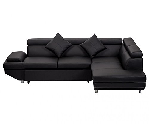 Corner Sofas Sets Leather Sectional Corner Sofa with Functional Armrest / Back R