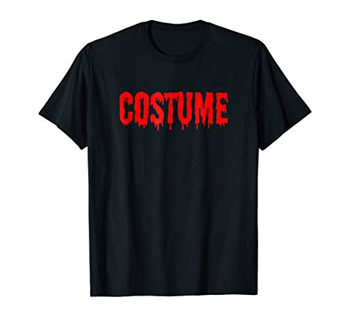 Funny Costume Red Letters Halloween Lazy Idea