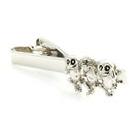 Wise Man Costume Uk (Mondaily - 3 Wise Monkeys See No Evil Hear Speak Tie Clip Silver Black Wedding Bar Clasp #PPTE5028)