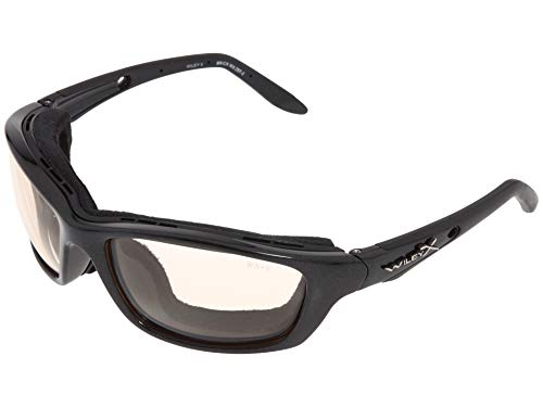 Wiley X Brick Sunglasses, Metallic Black Frame, Photochromic Smoke Grey ()