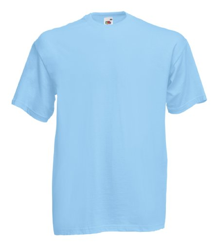 Fruit of the Loom Valueweight camiseta Sky Blue
