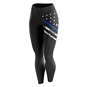 Tactical Pro Supply American Flag Patriotic Womens Gym Leggings
