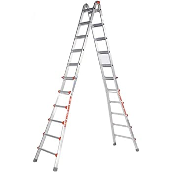 Louisville Ladder FM1414HD Fiberglass Twin Front Ladder, 14 Feet ...