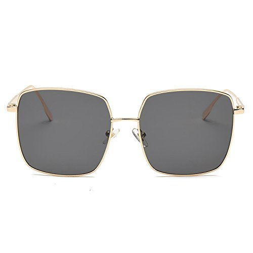 box flat mirror's wild marine sunglasses,Gold frame gray ()