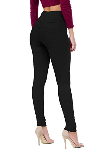 Women's Butt Lift V3 Super Comfy Stretch Denim Jeans P45074SKX Black 20