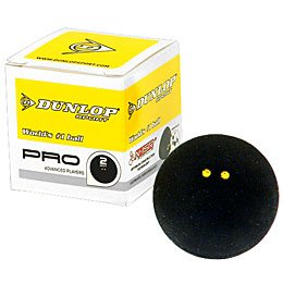 Dunlop Pro - Double Yellow Dot Squash Ball - 3-pack product image