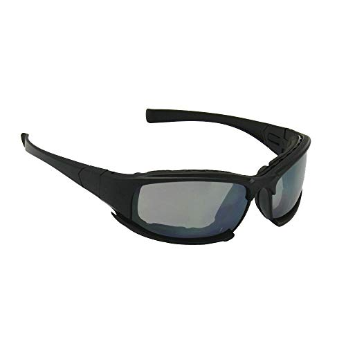 Polarized Daisy One X7 Army Sunglasses, Military Goggles 4 Lens Kit Tactical Goggles (black, Not Polarized)