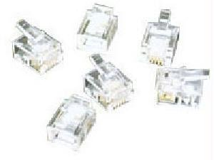 - C2G 27558 RJ11 6x4 Modular Plug for Flat Stranded Cable Multipack (50 Pack) Clear