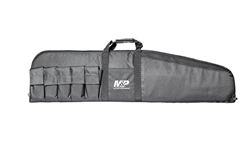Smith & Wesson Gear Large Duty Series Gun Case Padded Tactical Rifle Bag for Hunting Shooting Range Sports Storage and Transport (Double Pistol Case Gun Series)
