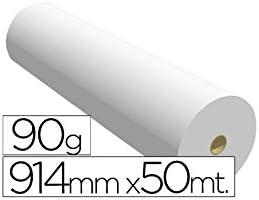 Fabrisa 7910509 - Rollo de papel para plóter, 90 g, 914 mm x 50 m ...
