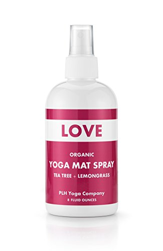 PLH Yoga's Organic Yoga Mat Cleaning Spray, Love - Tea Tree + Lemongrass (8 Fluid Ounces)