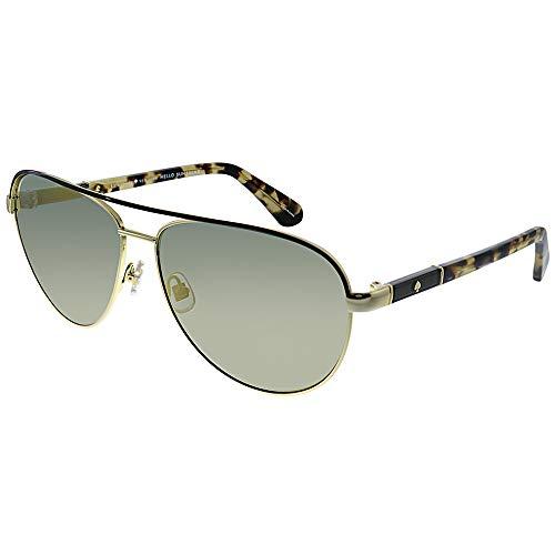 - Kate Spade Women's Emilyann/s Aviator Sunglasses, Gold Brown Havana/Gray Bronze Mirror, 59 mm