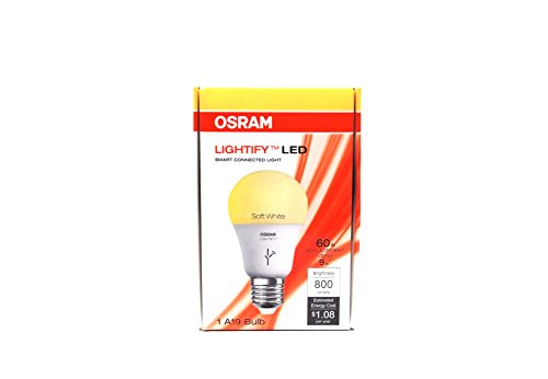Osram Lightify 9-Watt (60W Equivalent) 2,700K A19 Dimmable Soft White LED Bulb with Built-In WiFi Review