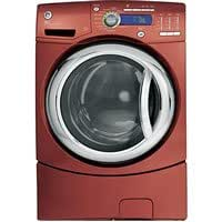 "27"" Vermillion Red Front-Load Washer With Internal Water Heater Adaptive Vibration Control Speed Wash eWash Option 4.1 DOE cu. ft. Capacity & CEE Tier III Energy Star Complian"