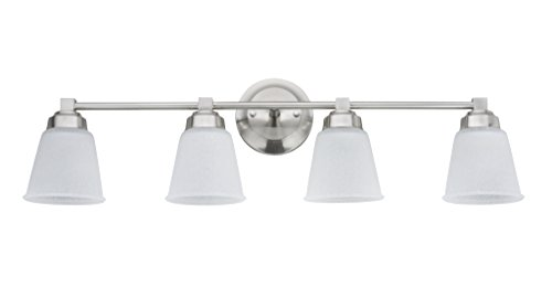 - Aspen Creative 62071-1, Four-Light Metal Bathroom Vanity Wall Light Fixture, 30