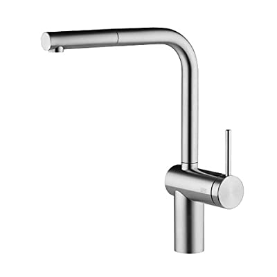 KWC Faucets 10.231.103.700 LIVELLO Pull Out Kitchen Faucet, Splendure Stainless Steel