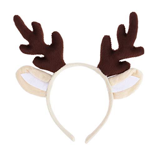 Kids Reindeer Antlers (Tinksky Reindeer Antler Hair Hoop Christmas Kids Headband Headwear for Children Christmas Costume)