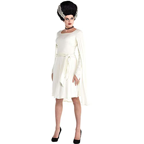 Party City Bride of Frankenstein Halloween Costume Accessory Kit for Adults, Standard, Dress and Belt