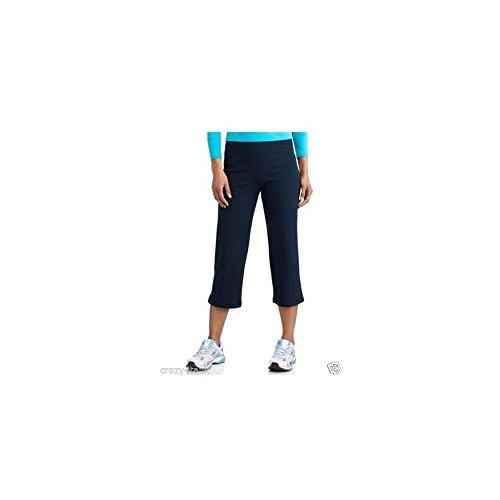Danskin Now Womens Dri-more Stretch Core Capri Bermuda Pants Activewear Loungewear, Navy, Small (Danskin Capris)