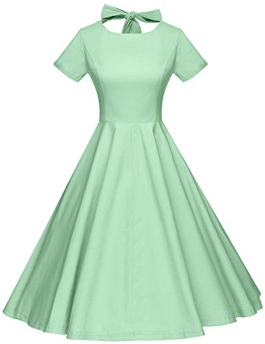 GownTown Womens 1950s Vintage Retro Party Swing Rockabillty Stretchy Dress - XX-Large - Green