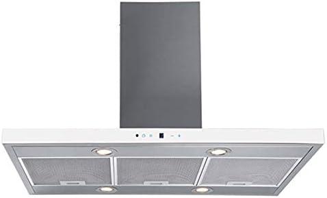 Campana extractora Isla F. Bayer Ena is90egw Eco 90 cm acero inoxidable cristal blanco Campana 700 M³/h, eficiencia energética B: Amazon.es: Grandes electrodomésticos