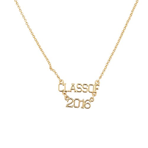 Funny Guy Costume 2016 (Lux Accessories Goldtone Class of 2016 Necklace)