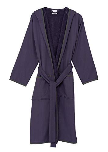 - TowelSelections Women's Robe, Cotton Lined Hooded Terry Bathrobe Medium/Large Loganberry