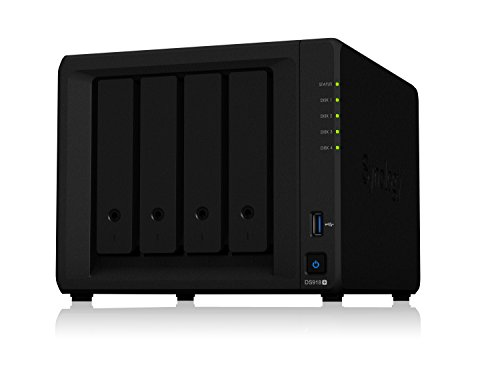 - Synology 4 bay NAS DiskStation DS918+ (Diskless)
