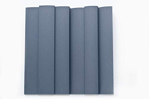 JOCAVI Acoustic Panels WAV/I060 ATP WAVYFUSER/Inverted Acoustic Diffuser Panel, Grey - 2 Units