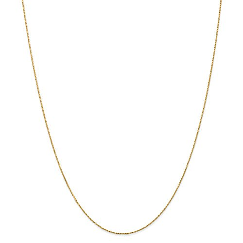 14k Yellow Gold .8mm Round Link Wheat Chain Necklace 30 Inch Pendant Charm Spiga Parisian Fine Jewelry Gifts For Women For Her