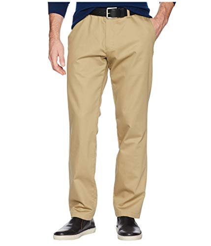 Dockers Men's Athletic Fit Signature Khaki Lux Cotton Stretch Pants, New British, 34W x 32L
