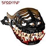 SpookyPup Hilarious Dog Costume Muzzle with Large Scary Teeth – Get Your Dog to Join the Fun (X-Large)