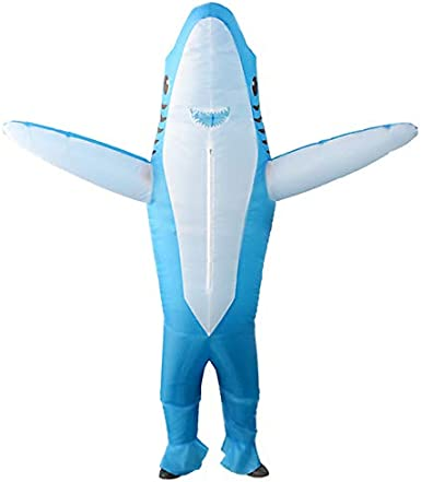 SIREN SUE Inflatable Shark Costumes for a Halloween and Christmas Show Cosplay Jumpsuit