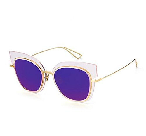 chip Polarizado Conducción No Los Sun Malva glasses En Espejo Lentes Película Box Retro De Nueva Gafas La Kim Sol Color Tendencia Simple xgFxRqa