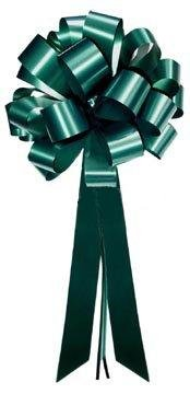 Hunter Green Pull Bows with Tails - 8