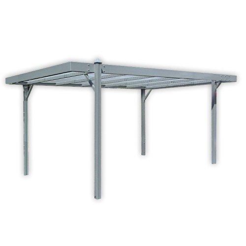 aktion aluminium carport luxor ral 9016 wei komplettbausatz inkl polycarbonat dacheindeckung und pyramidenkappen 5100mm x