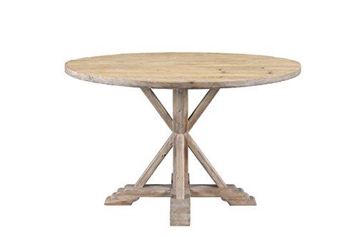 Amazon Com Burnham 25029 Home Weston Round Dining Table Natural