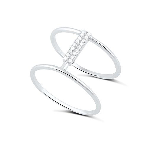 double bar ring - 6