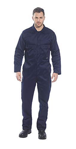 Portwest Euro Work Boilersuit Coverall Overall Protective Safety Work Suit One Piece, Navy, -