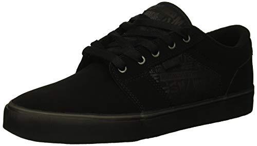 Etnies Men's Barge LS Skate Shoe, Metal Mulisha Black/Lime, 12 Medium - Metal Skateboard