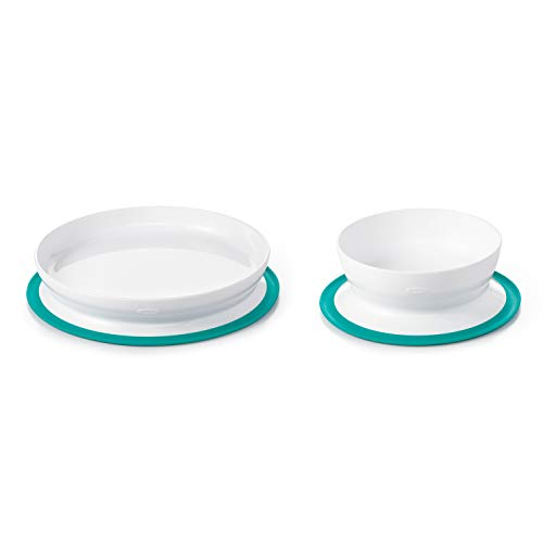 OXO Tot Stick & Stay Suction Plate & Bowl Bundle - Teal