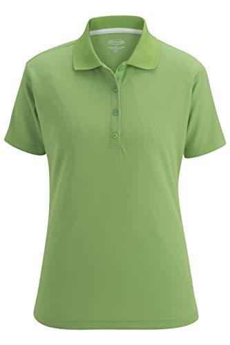 Women Mojito Green - Edwards Women's Hi-Performance Mesh Short Sleeve Polo Shirt, Mojito, X-Large