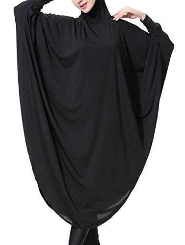 Jaycargogo Suit Siamese Abaya East Sleeve Hijab Womens Black Middle Arab Muslim Long Dresses Robe 77xTq4Hrw