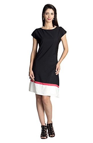 MOHR Women's Dress with Color Blocking X-Large Black by MOHR - Colors of India