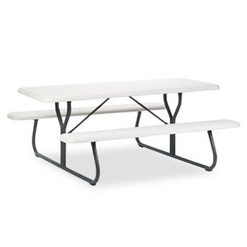 ICE65923 - IndestrucTables Too 1200 Series Resin Picnic Table by Iceberg