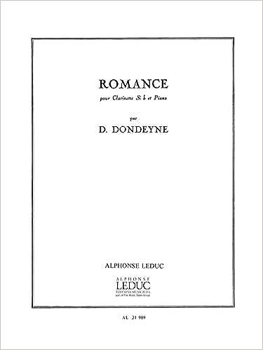 Romance pour Clarinette Si b et Piano