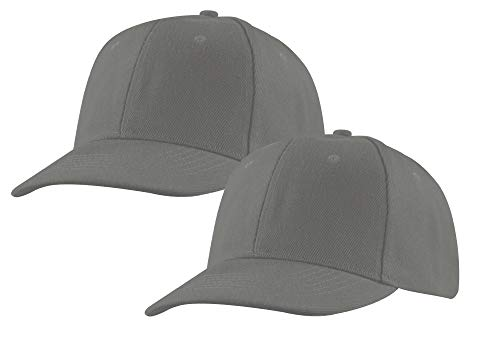 Baseball Cap, 2 Pack, Adjustable Strap, Classic Acrylic Hats, Outdoors Plain Colors